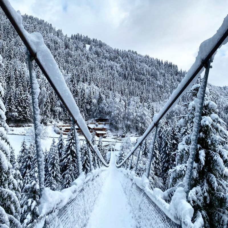Le pont suspendu de Torgon