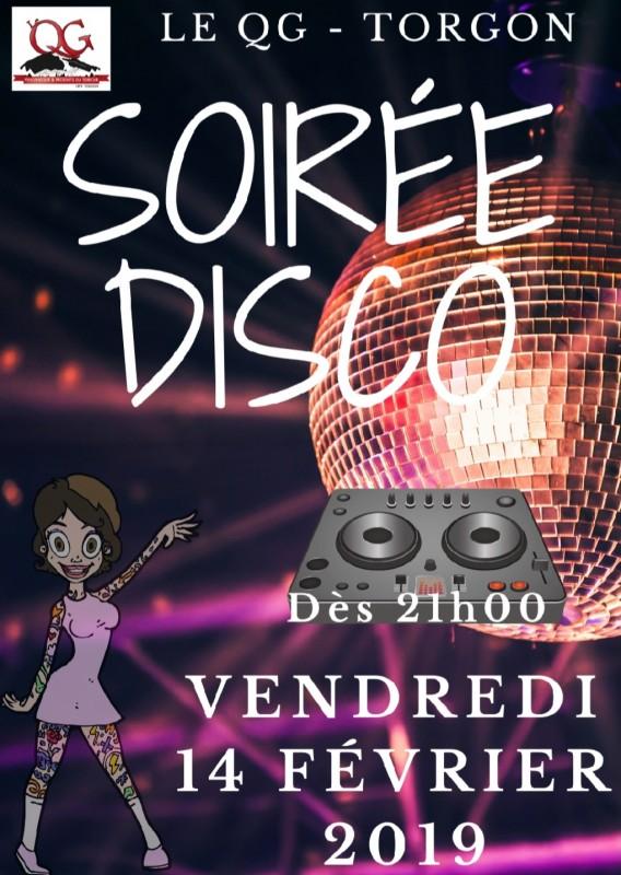 Affiche soirée disco